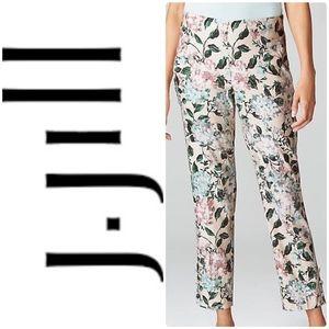 J. Jill Linen-Stretch Button-Hem Ankle Pants